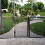self closing pool fence gate
